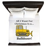 Christmas Bulldozer King Duvet