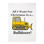 Christmas Bulldozer 5'x7'Area Rug