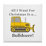 Christmas Bulldozer Tile Coaster