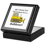 Christmas Bulldozer Keepsake Box