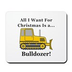 Christmas Bulldozer Mousepad