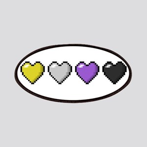 Non-Binary Pixel Hearts Patch