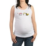 I Love Hoes Maternity Tank Top