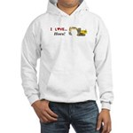 I Love Hoes Hooded Sweatshirt