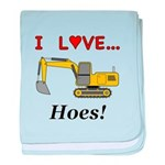 I Love Hoes baby blanket