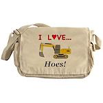 I Love Hoes Messenger Bag
