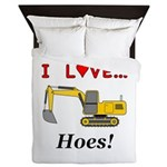 I Love Hoes Queen Duvet