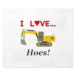 I Love Hoes King Duvet
