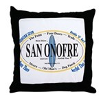 San Onofre Throw Pillow
