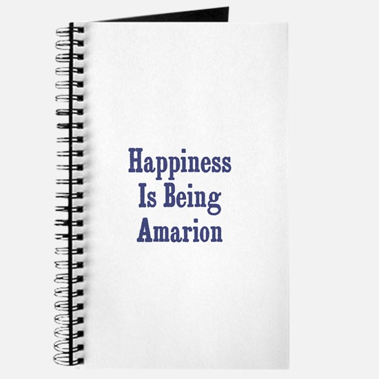Happiness is being Amarion Journal