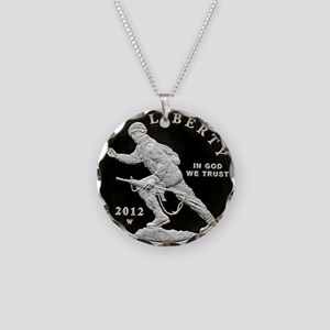 Infantry Soldier Commemorati Necklace Circle Charm