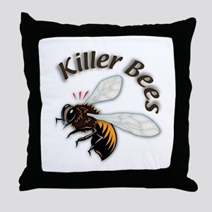 Killer Bees Throw Pillow
