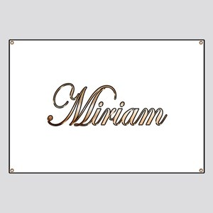Gold Miriam Banner
