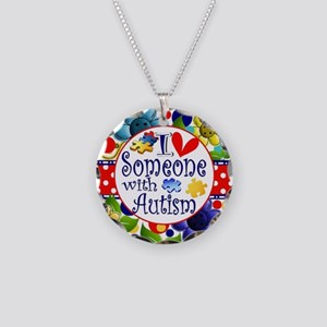 I Love Someone Necklace Circle Charm