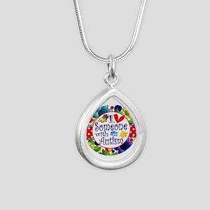 I Love Someone Silver Teardrop Necklace