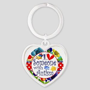 I Love Someone Heart Keychain