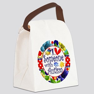 I Love Someone Canvas Lunch Bag