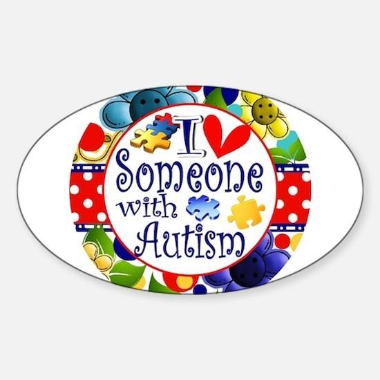 I Love Someone Sticker (Oval)