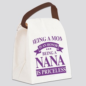 Being a Mom is an Honor Canvas Lunch Bag