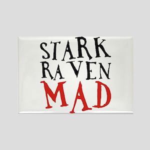 Stark Raven Mad Rectangle Magnet