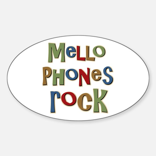 Mellophones Rock Player Lover Oval Decal