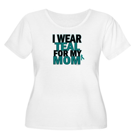 I Wear Teal For My Mom 5 Women's Plus Size Scoop N
