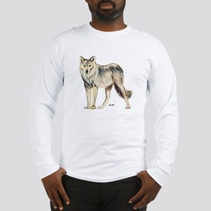 Gray Wolf (Front) Long Sleeve T-Shirt