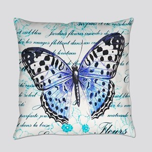 Blue Butterfly Everyday Pillow