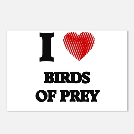 I love Birds Of Prey Postcards (Package of 8)