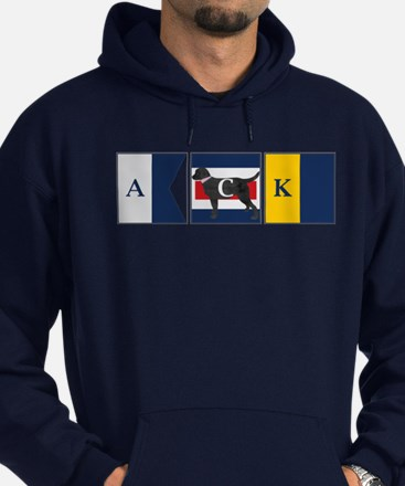 Preppy Lab Dog ACK Signal Flag Hoodie