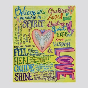 Spirit Prayer Art Throw Blanket
