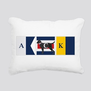 Preppy Lab Dog ACK Signal Flag Rectangular Canvas