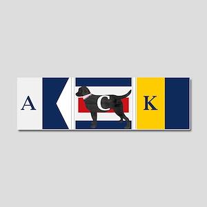 Preppy Lab Dog ACK Signal Flag Car Magnet 10 x 3