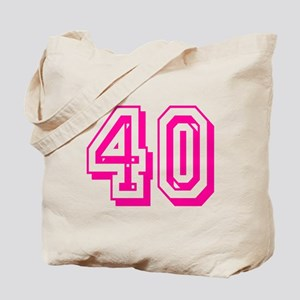 40 Pink Birthday Tote Bag