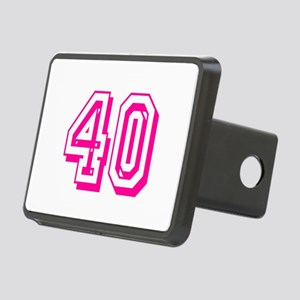 40 Pink Birthday Rectangular Hitch Cover