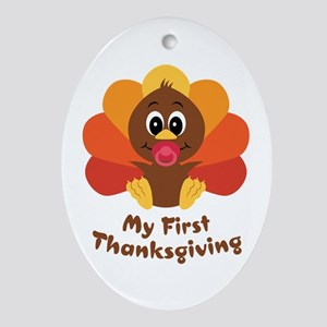 My 1st Thanksgiving Oval Ornament