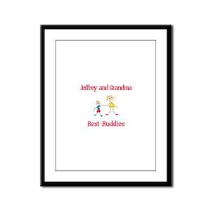 Jeffrey & Grandma - Buddies Framed Panel Print