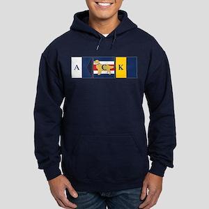 Preppy Dog Golden ACK Signal Flag Hoodie (dark)