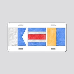 "Nantucket ""ACK"" Signal Flag Aluminum License Plate"