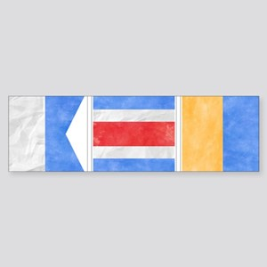 "Nantucket ""ACK"" Signal Flag Sticker (Bumper)"
