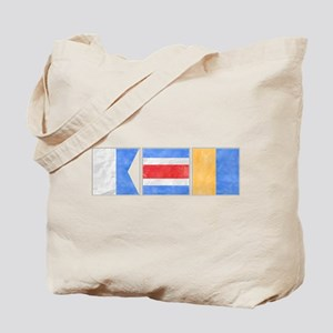 "Nantucket ""ACK"" Signal Flag Tote Bag"