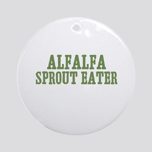 Alfalfa Sprout Eater Ornament (Round)