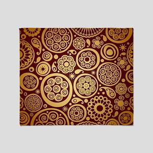Decorative Ornamental Pattern Throw Blanket