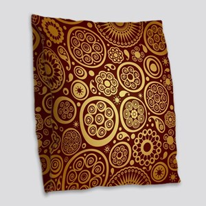 Decorative Ornamental Pattern Burlap Throw Pillow