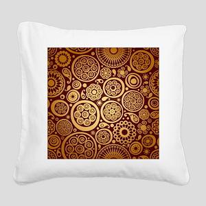 Decorative Ornamental Pattern Square Canvas Pillow