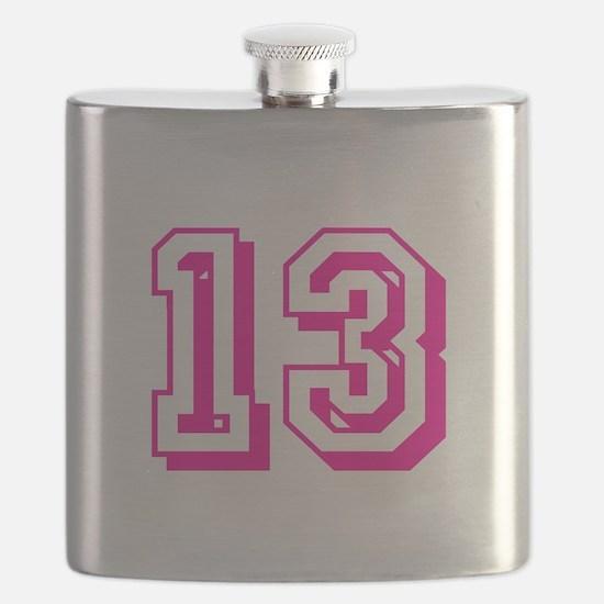 13 Pink Birthday Flask