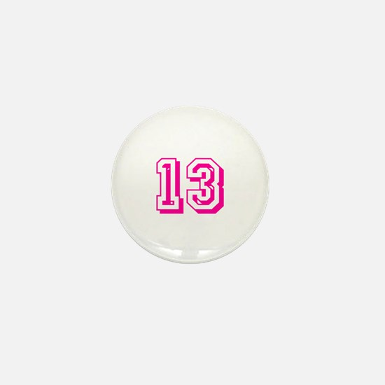 13 Pink Birthday Mini Button