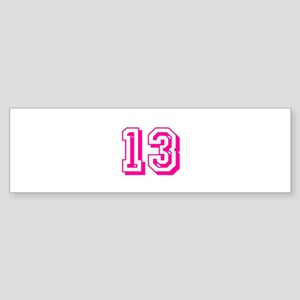 13 Pink Birthday Sticker (Bumper)