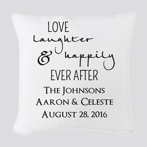 Love Laughter and Happily Ever After Woven Throw P