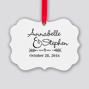 Couples Names Wedding Personalized Ornament